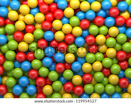 mixed-color balls background - stock photo