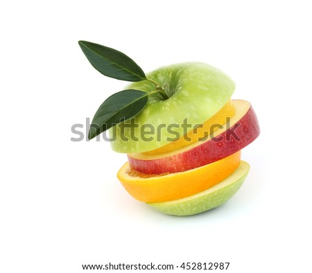 mixed fruit. - stock photo