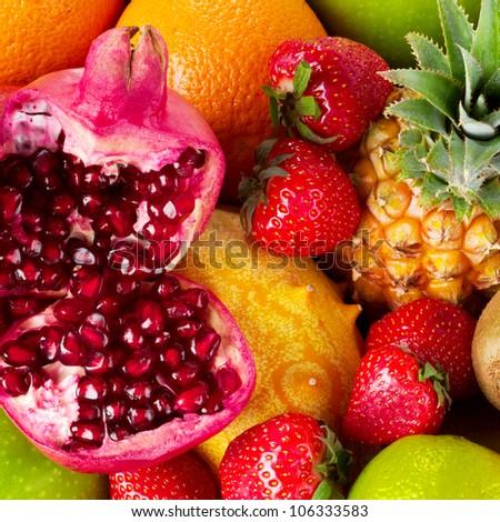 mixed fruits - stock photo