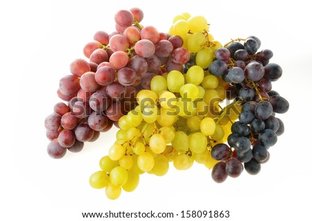 mixed grapes - stock photo