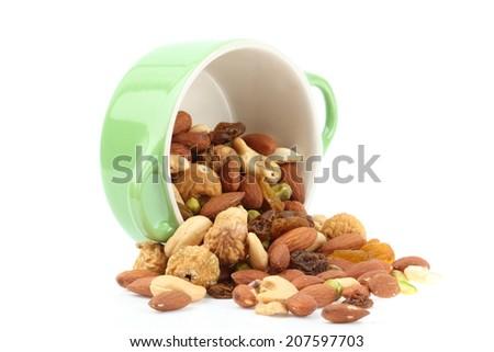 mixed nut - stock photo