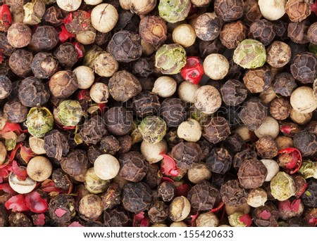 Mixed peppercorn food texture background - stock photo