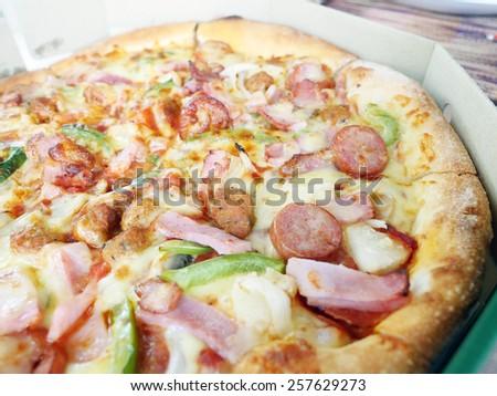 Mixed Pizza - stock photo