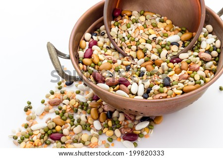 mixed pulses - stock photo