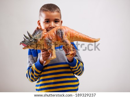 Mixed race young boy - stock photo