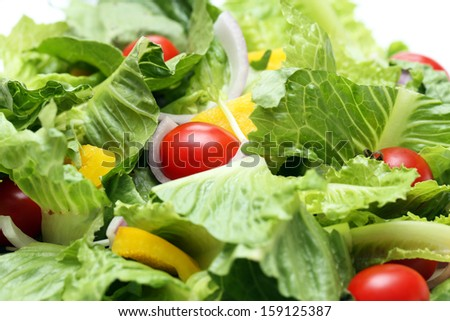 Mixed salad. - stock photo
