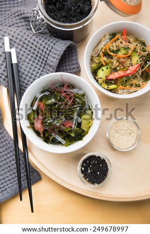Mixed Sea Vegetable Salad - stock photo