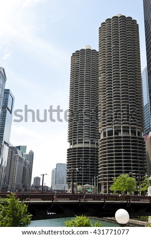 Mixed Use Skyscraper - stock photo