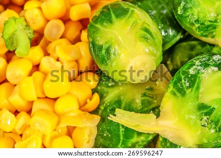 mixed vegetables background  - stock photo