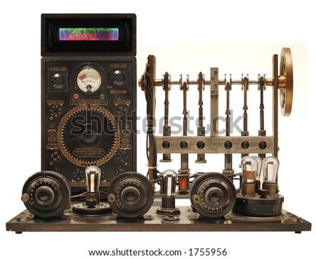 mixed victorian technology - stock photo