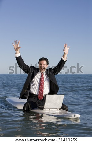 Mixing Business with Pleasure - stock photo