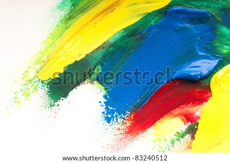 mixing paints. background - stock photo