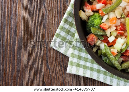 mixture frozen vegetables - stock photo