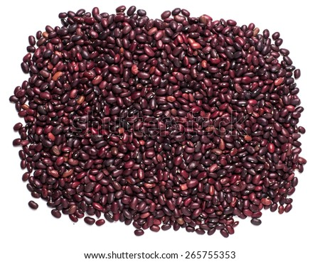 Mixture of dry beans and peas, background  - stock photo