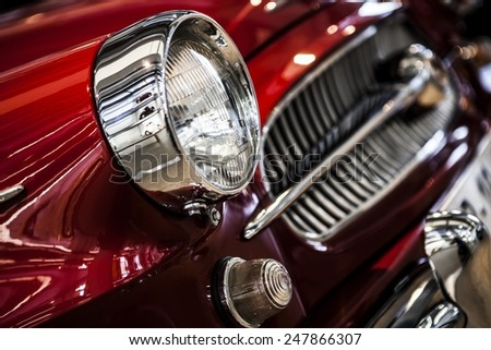 MLADA BOLESLAV, CZECH REPUBLIC -JUN 21, 2014: Skoda Auto Museum in Mlada Boleslav. Automobile museum presents the history of the company Skoda Auto and it is predecessor Laurin & Klement - stock photo