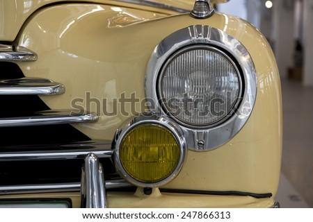 MLADA BOLESLAV, CZECH REPUBLIC -JUN 21, 2014: Skoda Auto Museum in Mlada Boleslav. Automobile museum presents the history of the company Skoda Auto and it is predecessor Laurin & Klement - stock photo