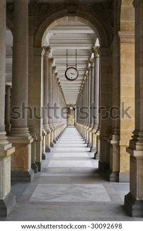 Mlynska kolonada at Karlovy Vary - stock photo