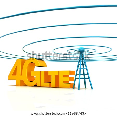 Mobile antenna. Communication concept and Wireless Technology. - stock photo
