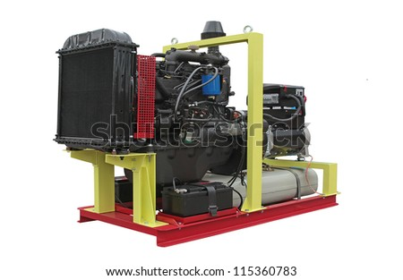 Mobile electric power generator for emergency situations - stock photo