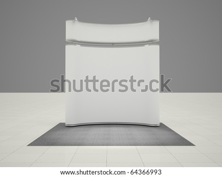 Mobile exhibition stand - stock photo