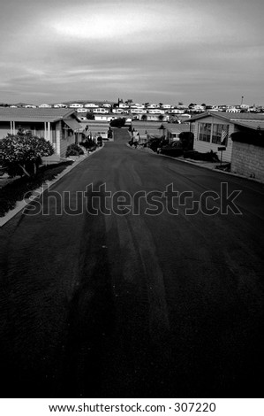 mobile homes - stock photo