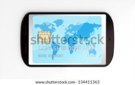 Mobile payment - stock photo