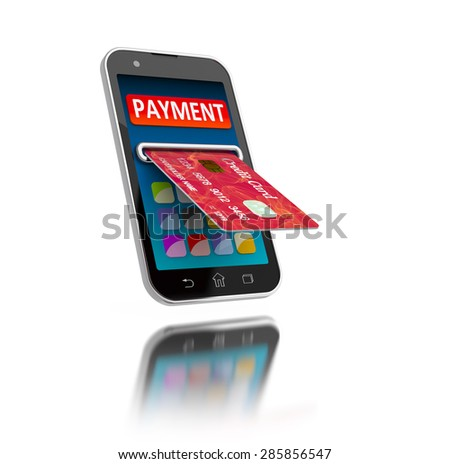 Mobile payment concept illustration. - stock photo