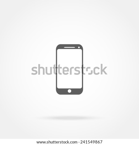 mobile phone icon  - stock photo