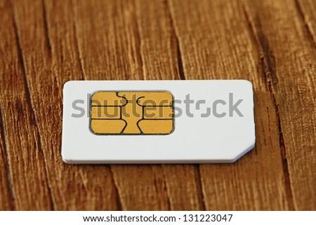 mobile phone sim - stock photo