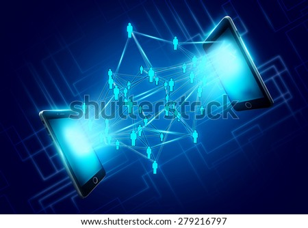 Mobile phones technology business concept - stock photo
