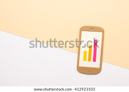 Mobile report - stock photo
