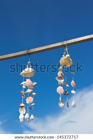 Mobile Shell sky background - stock photo