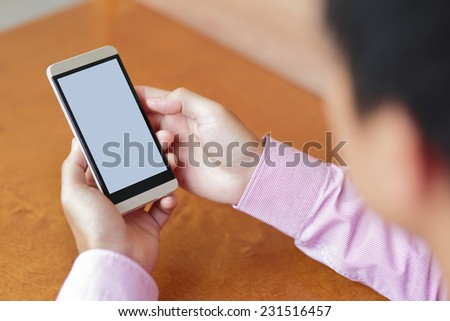mobile smart phone with empty screen, great for your design - stock photo