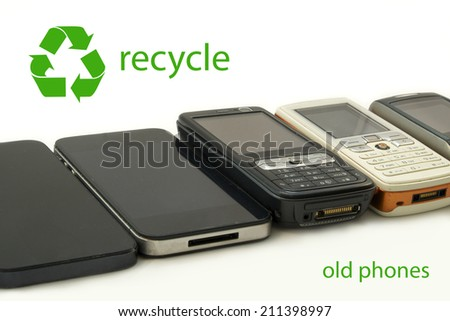 Mobile Telephone Recycle - stock photo