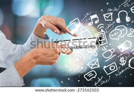 Mobile, touch, concept. - stock photo