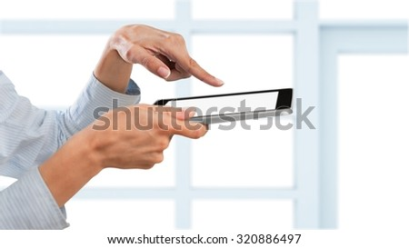 Mobile touch concept. - stock photo