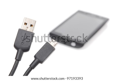 Moblie phone charger - stock photo
