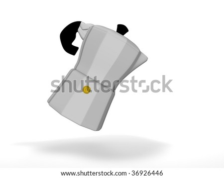mocha coffee maker - stock photo