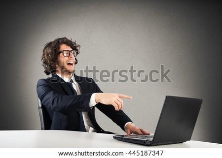 Mock businessman - stock photo