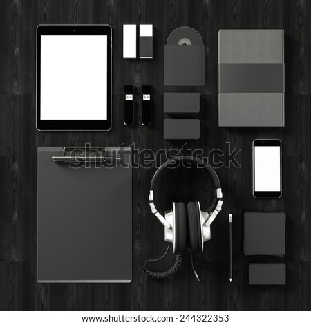 Mock up business template - stock photo