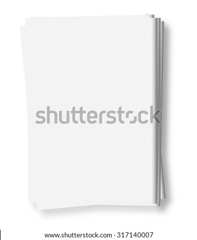 Mockup of  blank newspapers to add your own news, advertisement or headline text and pictures,   isolated on white background - stock photo