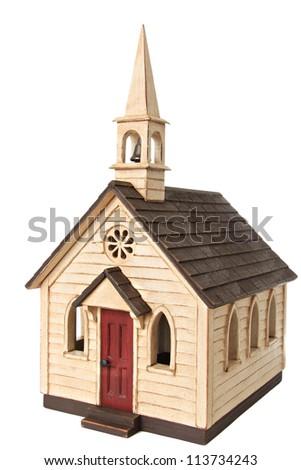 Model chapel, isolated on white. - stock photo