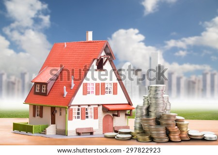 Model house with your deposit money - stock photo
