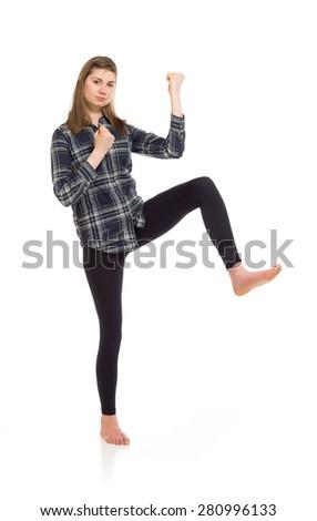 Model isolated cheerful - stock photo