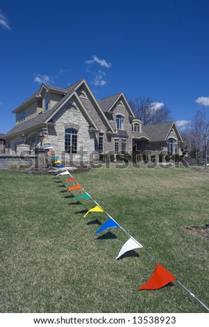 Model Luxury Home - spring time. - stock photo