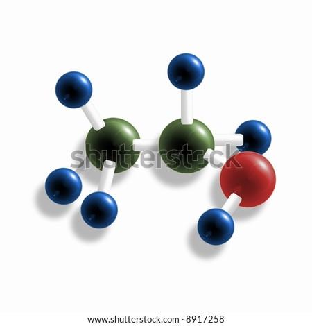 Model of a molecule - stock photo