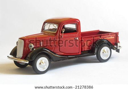 model of an old pickup truck - stock photo