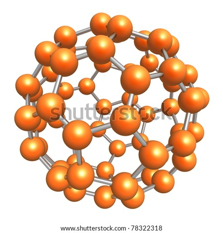Model of molecule - stock photo