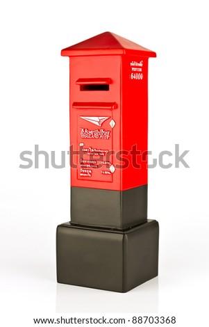 Model of Thai post box - stock photo