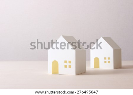 model of the house - stock photo
